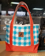 Rogue Life Maine Plaid Tote Bag - Teal/Orange