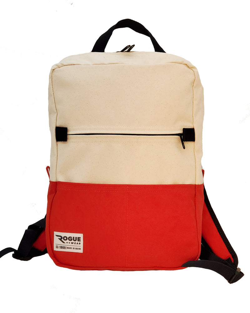 Benny Backpack - Canvas/Red