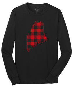 Buffalo Plaid State of Maine Long Sleeve