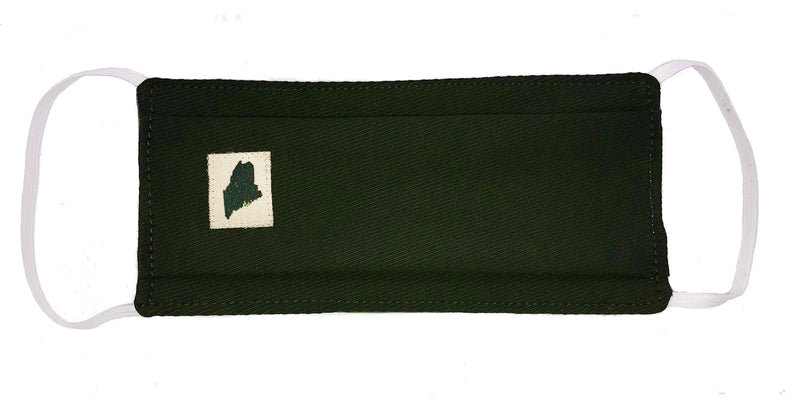 Maine State Face Mask - Moss Green