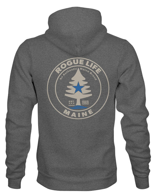 Rogue Life Maine Vintage Heather Grey Hoodie