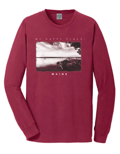 """Happy Place"" Adirondack Chairs Long Sleeve T-Shirt"