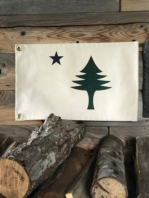 Canvas Maine Flag