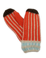 Striped Knit Fleece-Lined Mittens