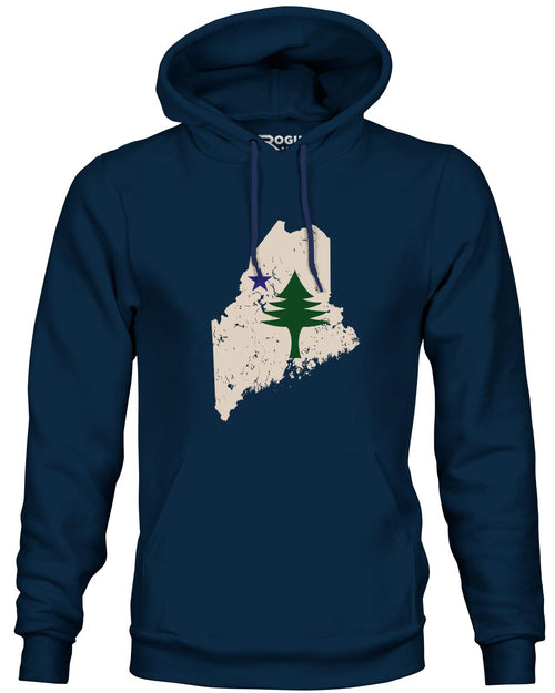 Maine State Flag Hoodie and Trucker Hat Gift Set