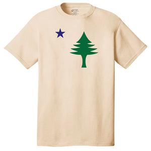 *Sale* Maine Flag T-shirt Natural