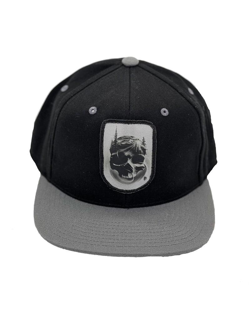 Matthew Brown Skull Flexfit Flat Bill Snapback Cap BLACK