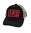 Buffalo Plaid Maine Trucker hat