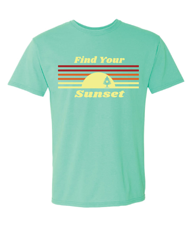 Find Your Sunset T-shirt - Mint Green