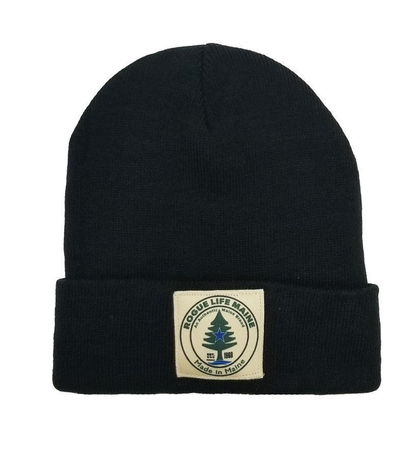 Rogue Life Fleece-Lined Knit Hat-Black