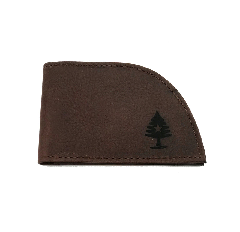 Rogue by Rogue Industries Front Pocket Wallet in American Bison Leather - BROWN