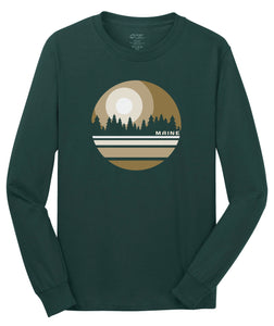 """Scapes""  Pine Tree Long Sleeve Tee"