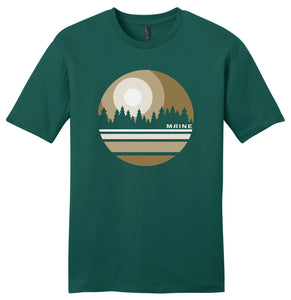 """Scapes""  Pine Tree Maine Short Sleeve Tee"