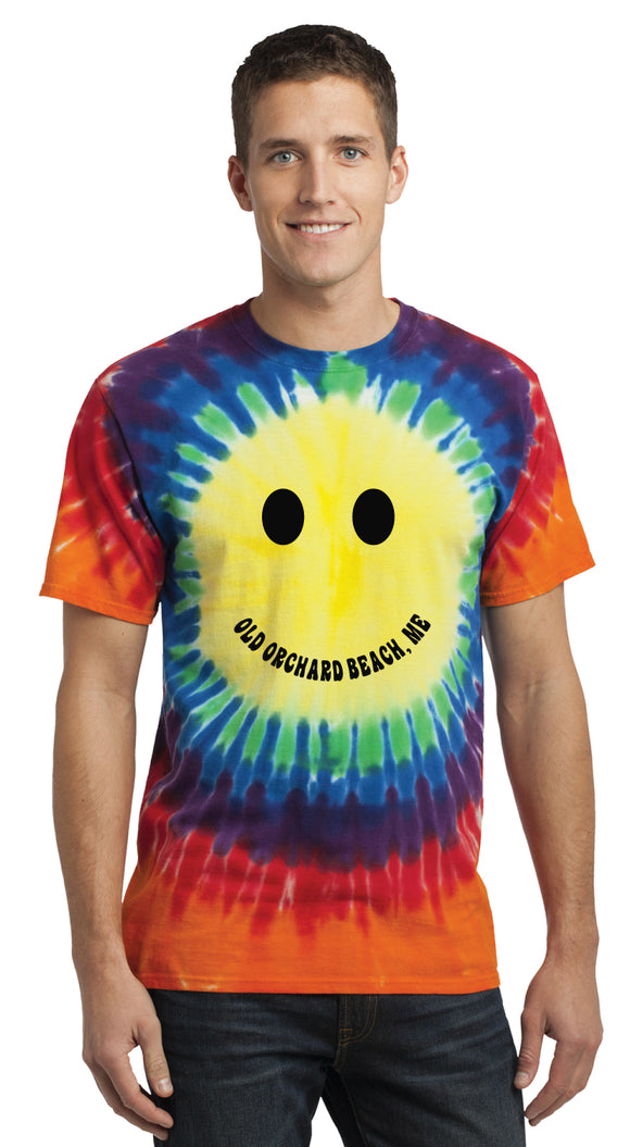 Tie Dye OOB Smile Rainbow Short Sleeve Tee