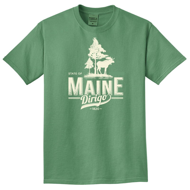 Maine Moose Dirigo-Safari Green