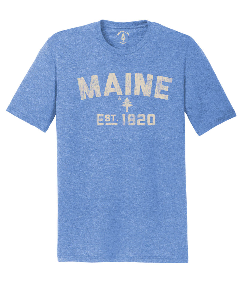 New Maine Est.1820 T-shirt-Maritime Frost Blue