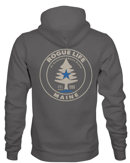 Rogue Life Maine Pewter Grey Hoodie