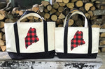 Maine Buffalo Plaid XL Tote Bag