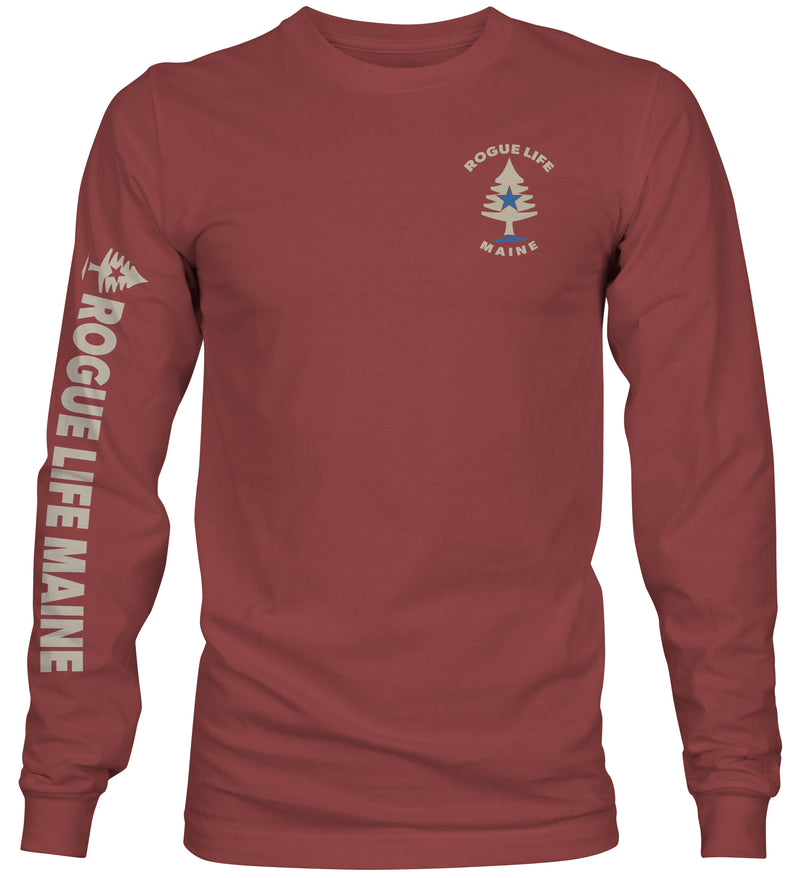 Rogue Life Maine Red Rock Long Sleeve T-Shirt