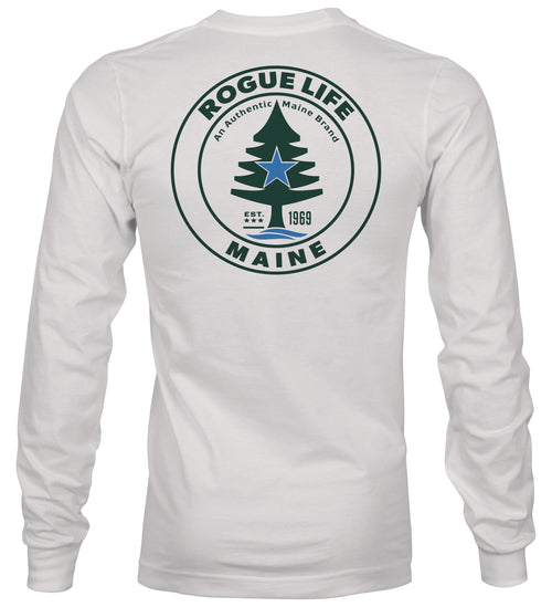 Rogue Life Maine White Long Sleeve T-Shirt