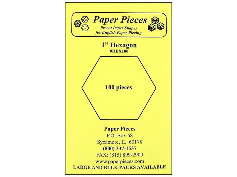 "1"" Hexagon Paper Pieces"
