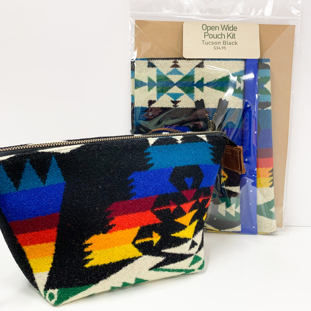 Open Wide Pouch Kit -  Made w/ Pendleton
