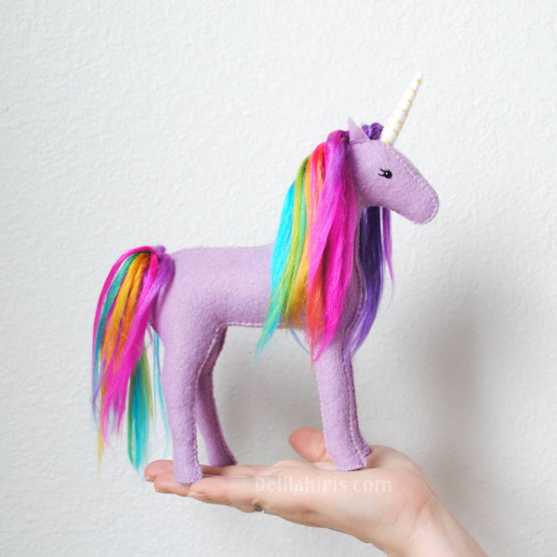Lavender Rainbow Unicorn Sewing Kit