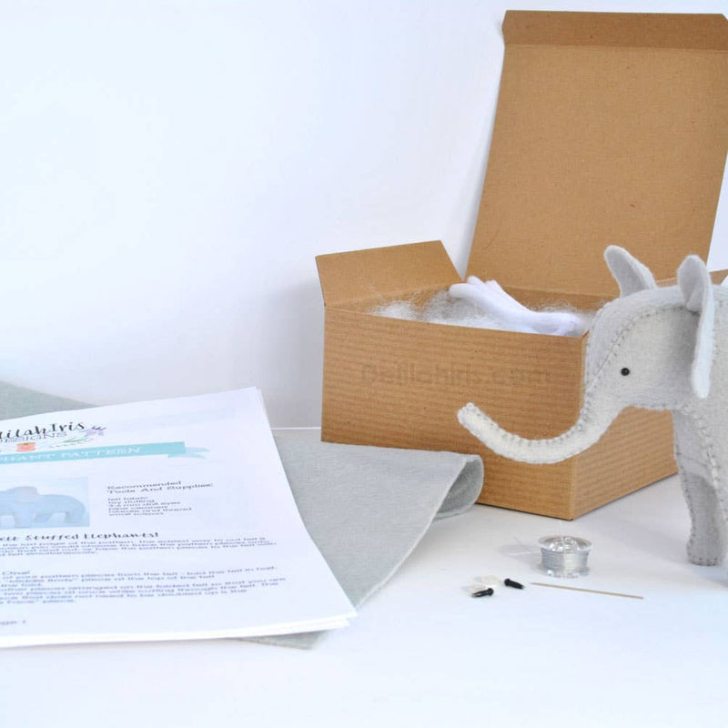 Grey Elephant Sewing Kit
