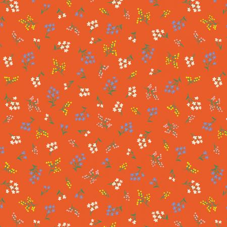Orange Sold by the 12 yard and FQ Yuwa Strawberries and Poodles COUNTRY /& CLOTH