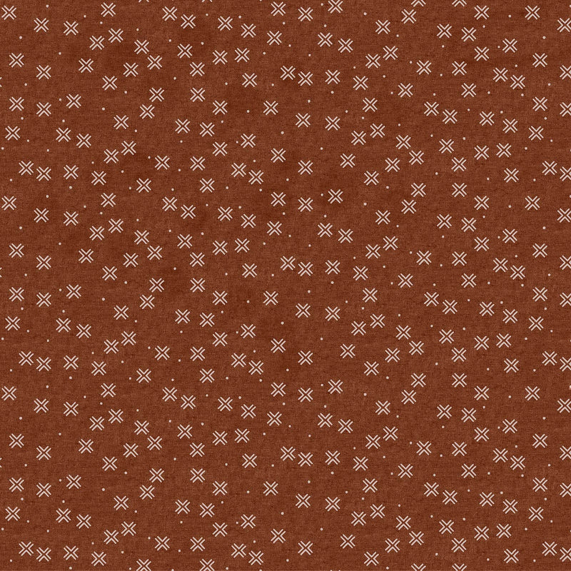 Crosses in Brown $18.40/yd
