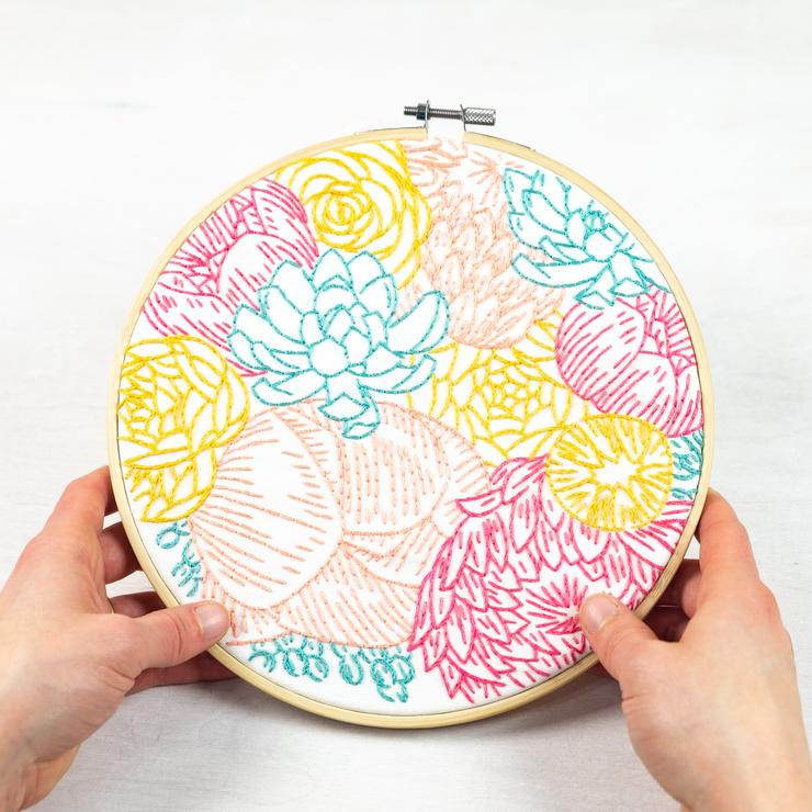 Floral Profusion Embroidery Panel