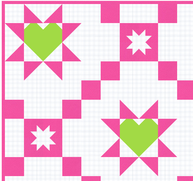 Starry Hearts Quilt Kits