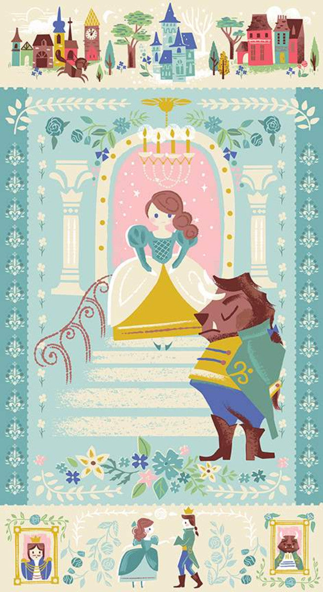 Beauty & the Beast Panel - Blue