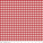 "Gingham - Red 1/4"" $10.40/yd"