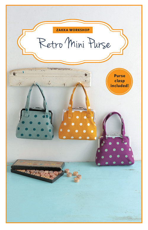 Retro Mini Purse & Pattern