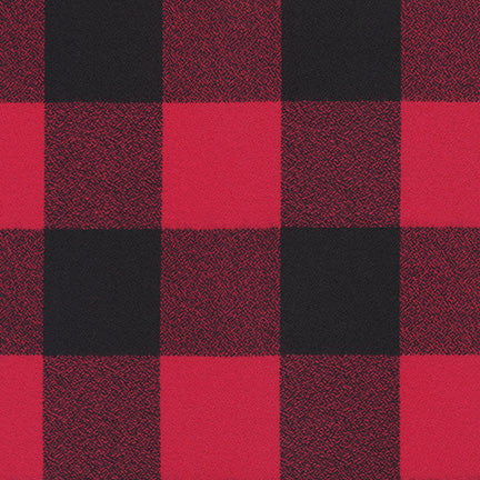 Red/Black Flannel WIDE $14/yd