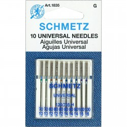 10 Universal Needles Assorted Sizes