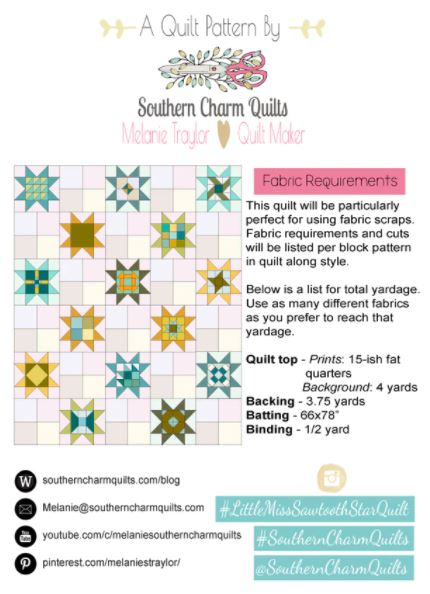 Little Miss Sawtooth Star Quilt