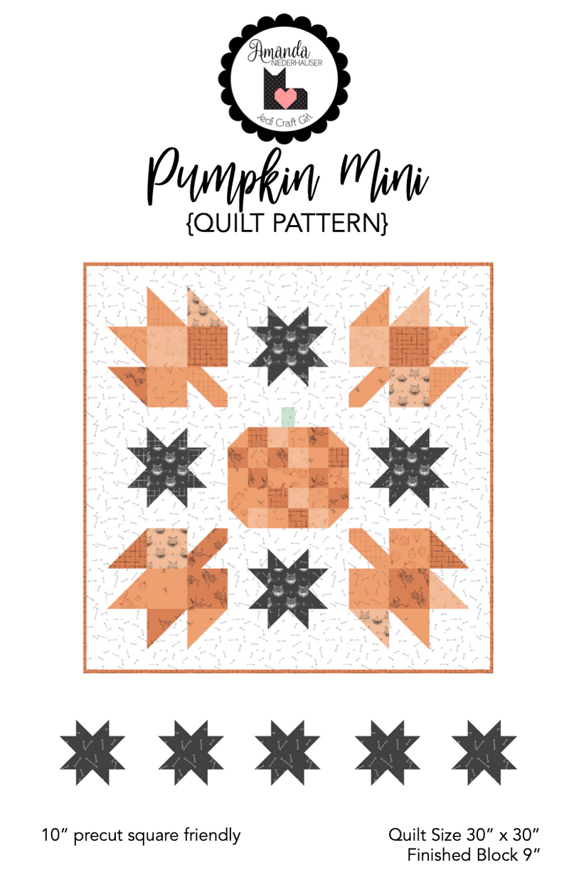 Pumpkin Mini Quilt Pattern