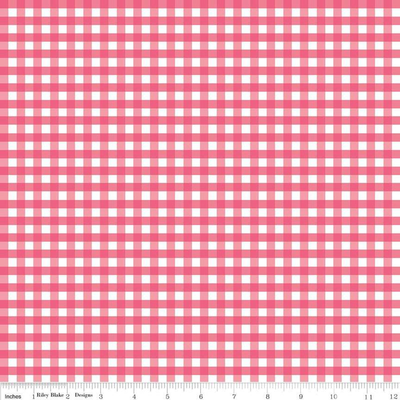 Gingham in Raspberry