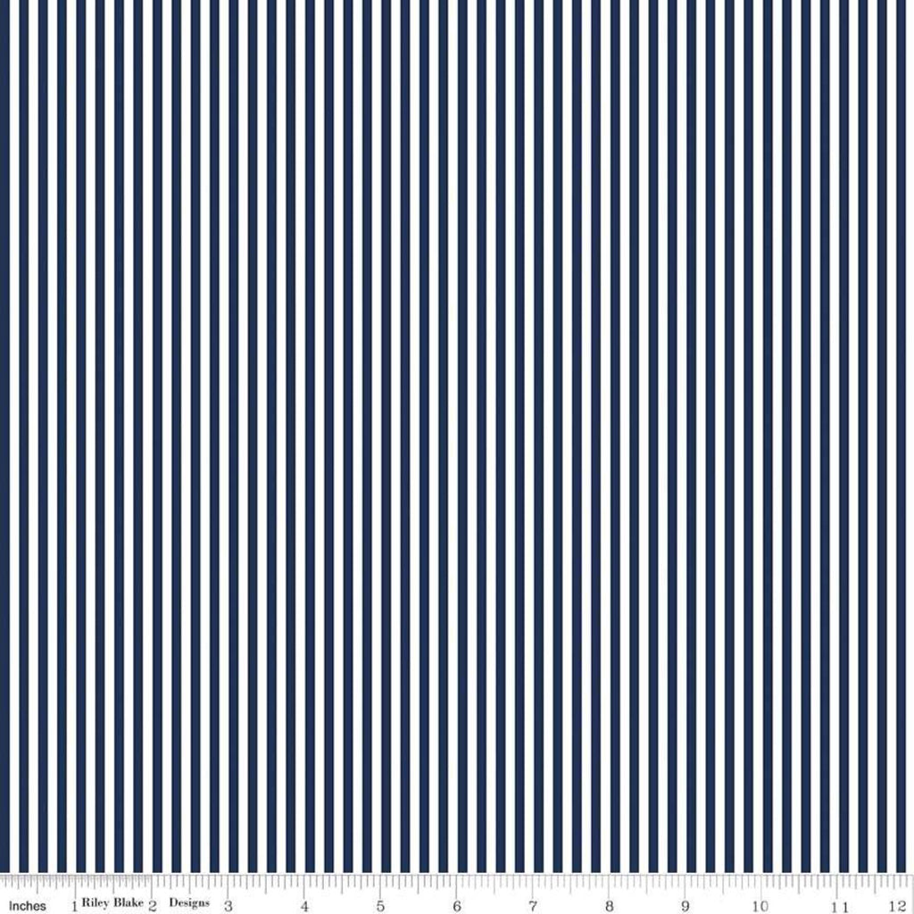 Stripes - Navy $10.40/yd