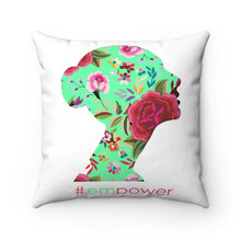 Load image into Gallery viewer, Empowered Woman | Spun Polyester Square Pillow