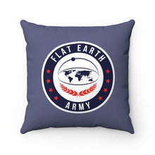 Load image into Gallery viewer, Flat Earth | Spun Polyester Square Pillow