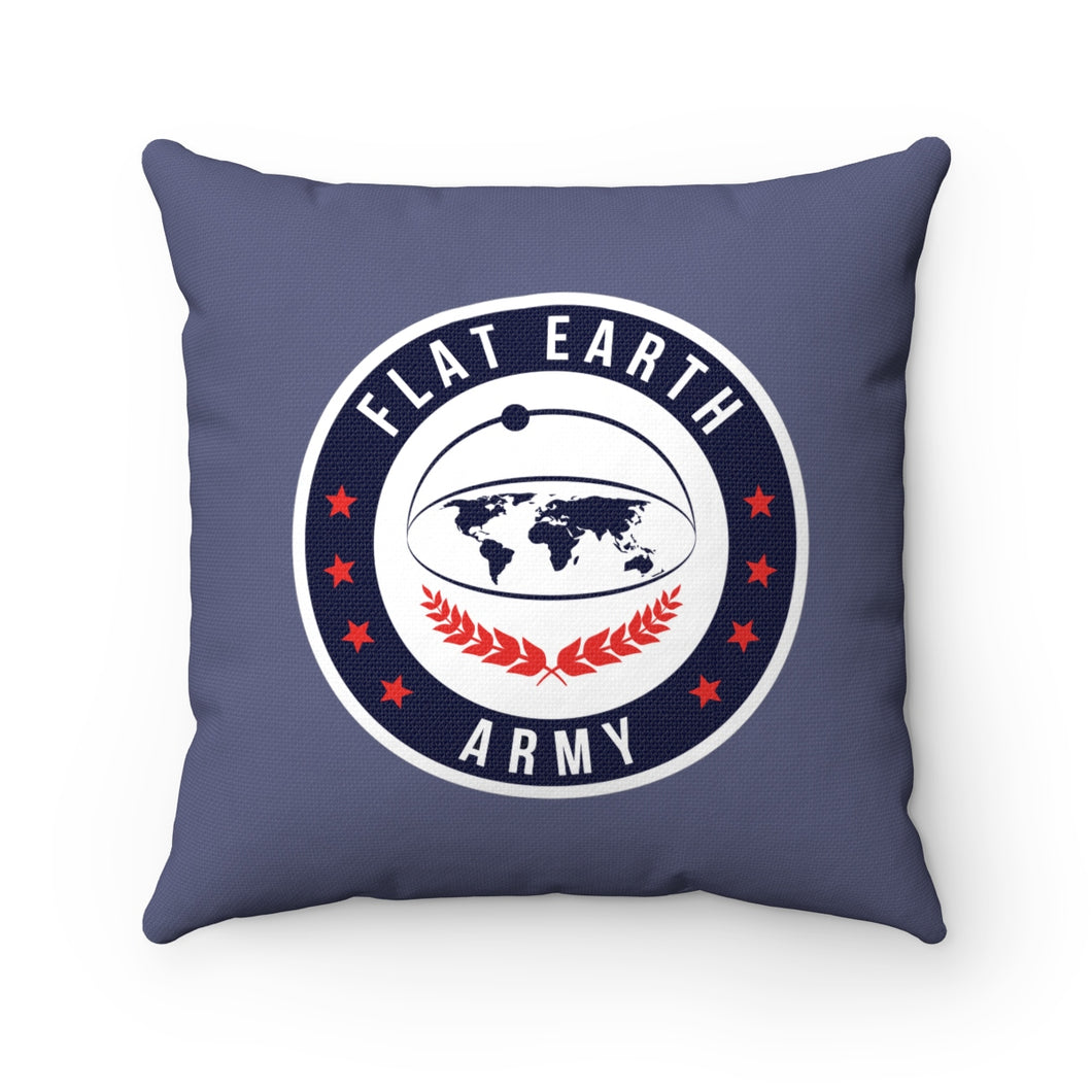 Flat Earth | Spun Polyester Square Pillow