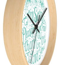 Load image into Gallery viewer, Ho'oponopono | Wall clock Aquamarina