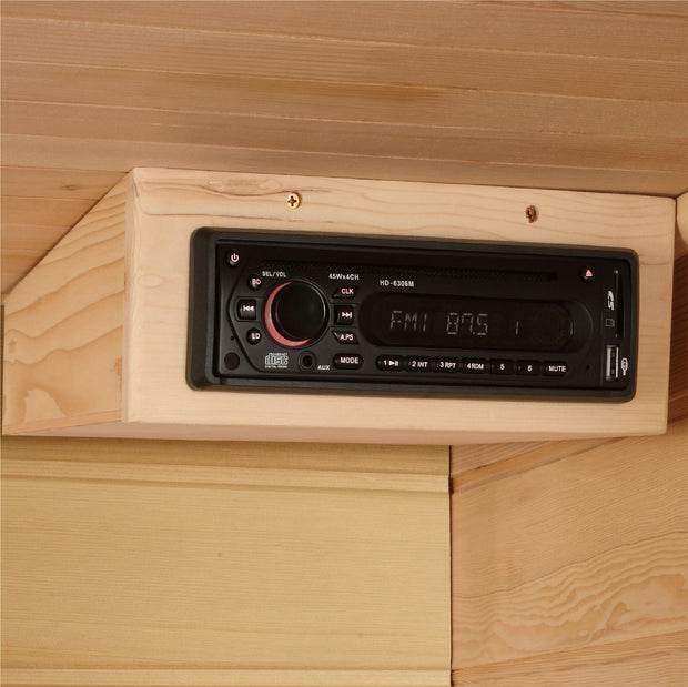 MX-K356-01 Maxxus Low EMF FAR Infrared Sauna Canadian Hemlock