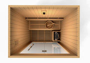 "Golden Designs ""Sundsvall Edition"" 2 Person Traditional Steam Sauna - Canadian Red Cedar"