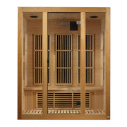 "Maxxus ""Bellevue"" 3 person Low EMF FAR Infrared Sauna Canadian Hemlock"