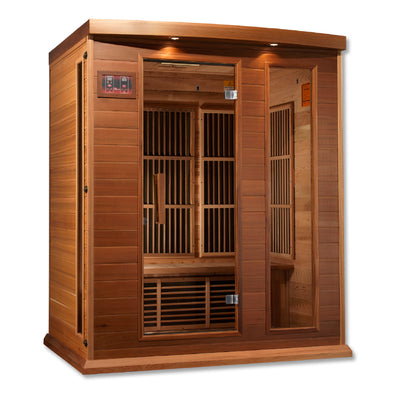 "Maxxus ""Avignon Edition"" 3 Person Near Zero EMF FAR Infrared Sauna - Canadian Red Cedar"