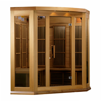"Maxxus ""Montilemar Edition"" 3 Person Corner Near Zero EMF FAR Infrared Sauna - Canadian Red Cedar"